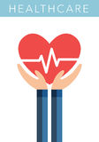 Healthcare flat vector symbol Royalty Free Stock Photo