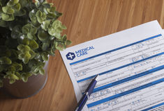 Healthcare form Royalty Free Stock Photo