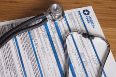 Healthcare form Stock Photography