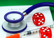 Healthcare Gamble Royalty Free Stock Images