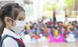 Healthcare - girl wearing a protective mask Royalty Free Stock Photo
