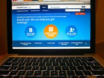 Healthcare.gov Lizenzfreies Stockbild