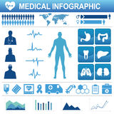 Healthcare icons and data elements Stock Photo