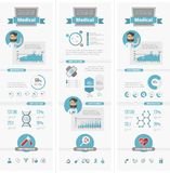 Healthcare Infographic Elements Stock Photography