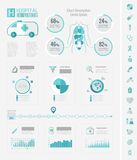 Healthcare Infographic Elements. Royalty Free Stock Photography