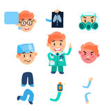 Healthcare Infographic Elements. Vector Set Royalty Free Stock Photos