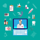 Healthcare Infographics Icons Set. Royalty Free Stock Photography