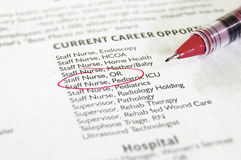 Healthcare jobs Royalty Free Stock Photography