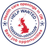 Healthcare jobs openings in UK Royalty Free Stock Photos