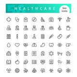 Healthcare Line Icons Set. Set of 56 healthcare line icons suitable for web, infographics and apps. on white background. Clipping paths included stock illustration