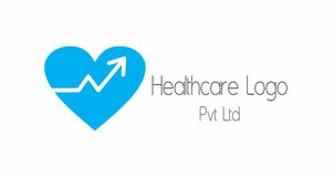 Healthcare marketing logo. A logo that can be used for a health insurance company or a company that is involved in marketing in the area of health and medicine Royalty Free Stock Images