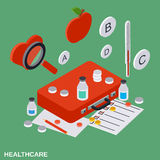 Healthcare, medical aid vector concept Royalty Free Stock Photos