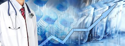 Health care stock market background Royalty Free Stock Photography