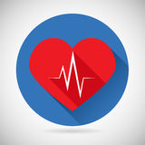 Healthcare and Medical Care Symbol Heart Beat Rate Royalty Free Stock Images