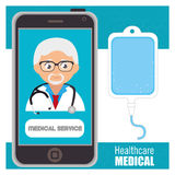 Healthcare medical. Design, vector illustration eps10 graphic Royalty Free Stock Photo