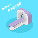Healthcare medical equipment. Tomograph isometryc image vector Royalty Free Stock Photos