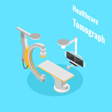 Healthcare medical equipment. Tomograph isometryc image vector Stock Image