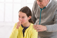 Healthcare, medical exam, people, children and stock photo