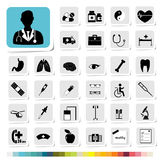 Healthcare and Medical Icon for Business Category Concept Royalty Free Stock Images