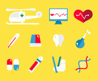 Healthcare and medical icons flat Royalty Free Stock Photo