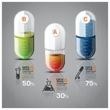 Healthcare And Medical Infographic Pill Capsule Diagram. Vector Design Template Stock Photos