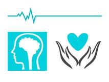 Healthcare - Medical logo. Healthcare - Medical blue logo vector Stock Illustration