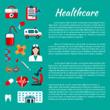 Healthcare and medical poster design Stock Photography