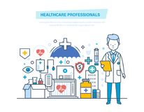 Healthcare medical professionals. Medical doctor, nurses, staff people. Healthcare, help. Stock Photo