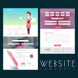 Healthcare and Medical Website Template layout. Stock Image