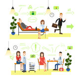 Healthcare and medicine concept vector illustration in flat style Stock Photography