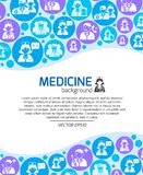 Healthcare and medicine doctors background Stock Photos