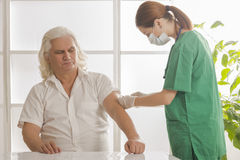 Healthcare, medicine and elderly concept - Royalty Free Stock Photography