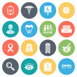 Healthcare and Medicine Minimal Icon Set Royalty Free Stock Photos