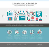 Healthcare and medicine web template Royalty Free Stock Photos