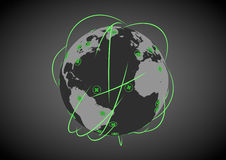 Healthcare network. Abstract render of a global healthcare network Royalty Free Stock Photo