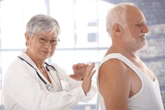 Healthcare at old age Royalty Free Stock Photo