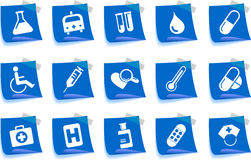 Healthcare and Pharma icons Royalty Free Stock Photography