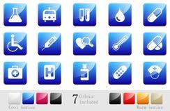 Healthcare & Pharma icons Royalty Free Stock Photos
