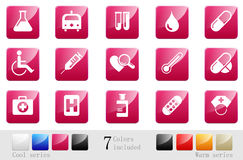 Healthcare & Pharma icons |part 16 series 9 Stock Image
