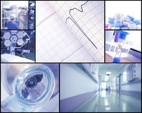 Healthcare photoset Royalty Free Stock Image