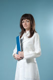 Healthcare - Pretty brunette doctor Royalty Free Stock Photos