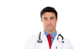 Healthcare professional, doctor, nurse wearing red tie and stethoscope Royalty Free Stock Photos
