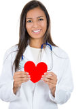 Healthcare professional holding up heart Stock Photography