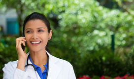 Healthcare professional on phone Stock Photography