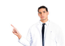 Healthcare professional pointing Royalty Free Stock Photography