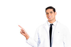 Healthcare professional pointing Stock Photo