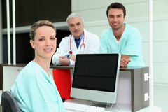 Healthcare professionals. A team of healthcare professionals stock photo