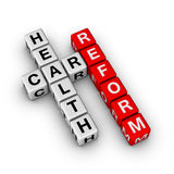 Healthcare Reform. Cubes crossword series Royalty Free Stock Photography