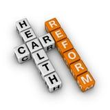 Healthcare Reform. (3D crossword orange series Stock Photo
