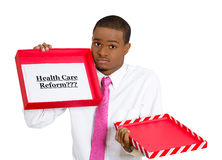 Healthcare reform in a box Stock Images